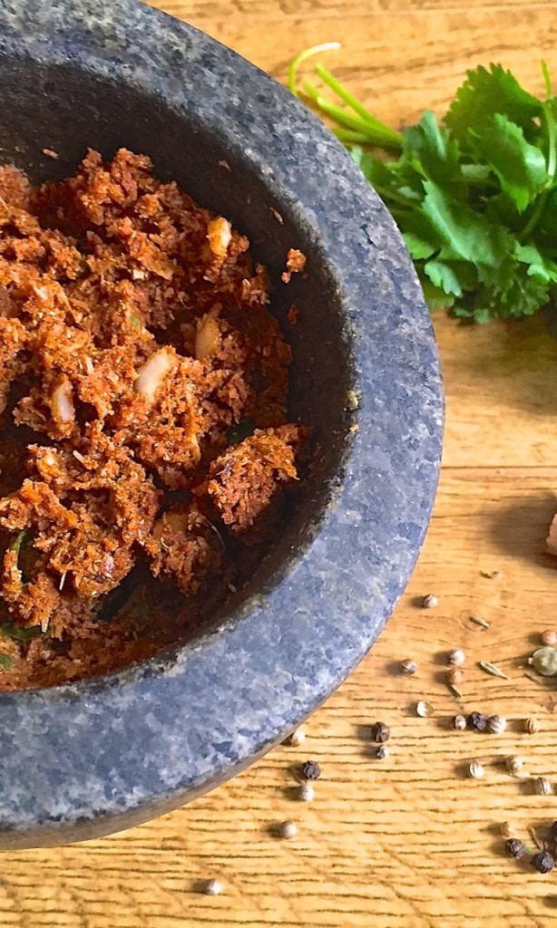 Homemade korma paste – A mild curry paste made with almonds, coconut and spices. Quick and simple to make, ready in just 10 minutes, and full of flavour.