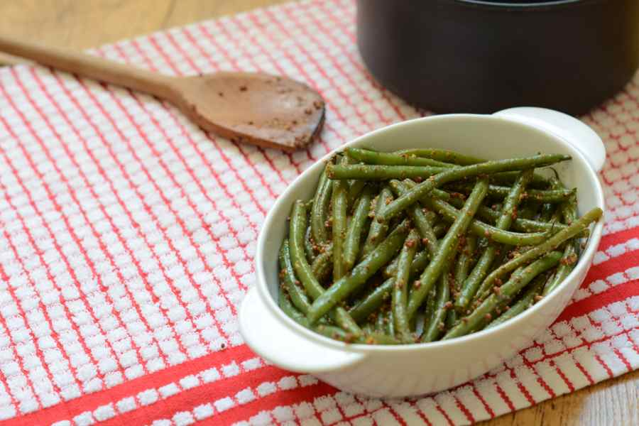 Mustard beans - the perfect accompaniment to roast beef (apart from yorkshire puddings of course!)