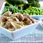 sausage mushroom mustard cider