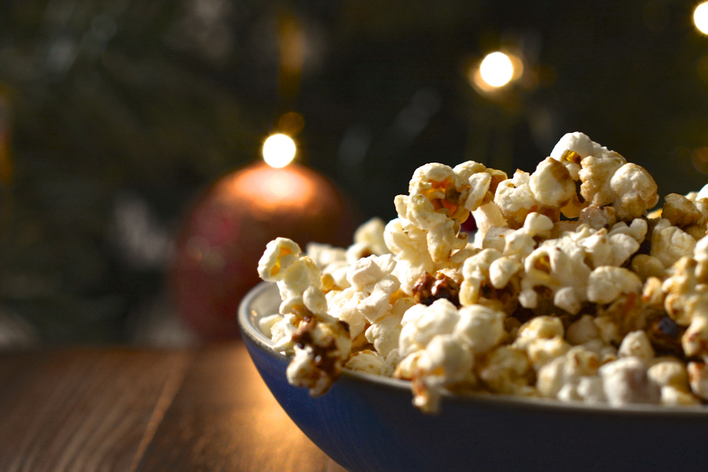 spiced orange popcorn christmas