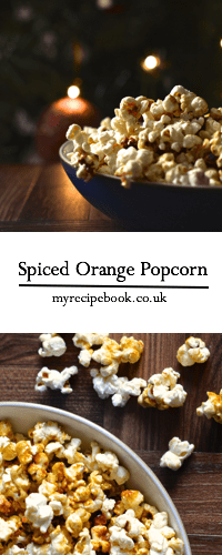 spiced orange popcorn pin