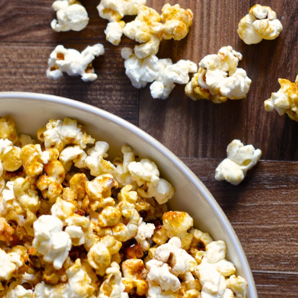 spiced orange popcorn square