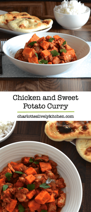 Looking for a delicious, healthy dinner? Then you should try this mild chicken and sweet potato curry recipe, packed full of flavour from my homemade korma paste.
