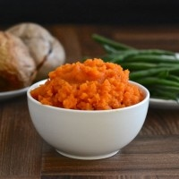 carrot swede mash side