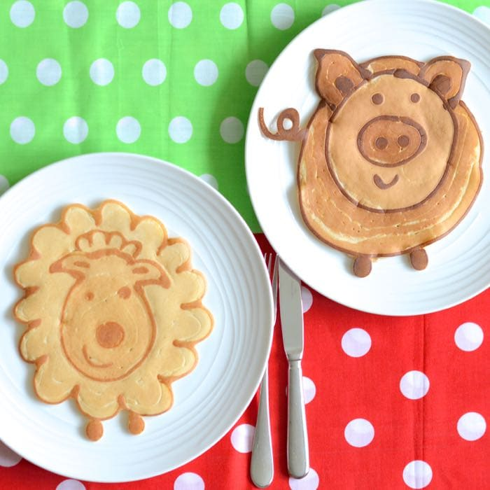 Farmyarp pancakes sheep pig