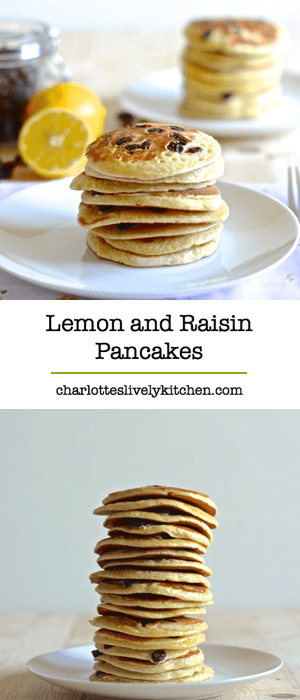 Try a twist on traditional American Pancakes by adding lemon zest and juicy raisins – Delicious.