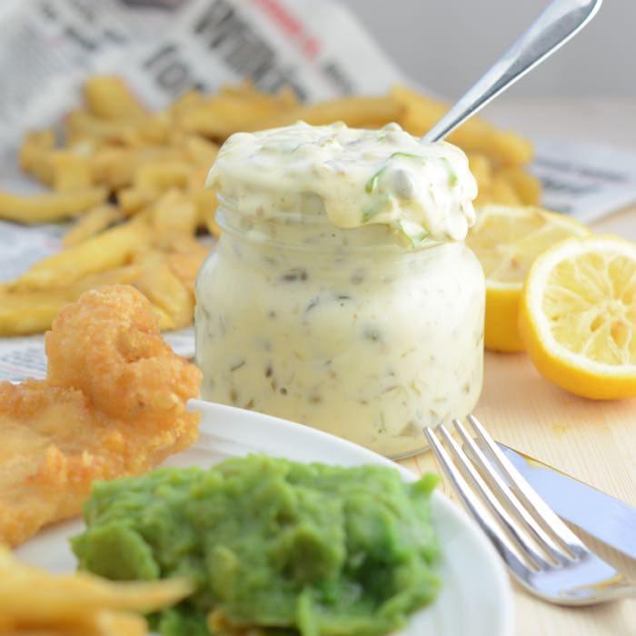 Tartare sauce fish chips
