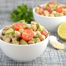 chickpea bacon avocado salad