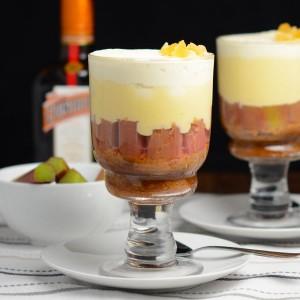 vanilla rhubarb ginger trifle