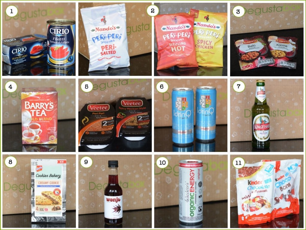 Degusta box april 2015 products