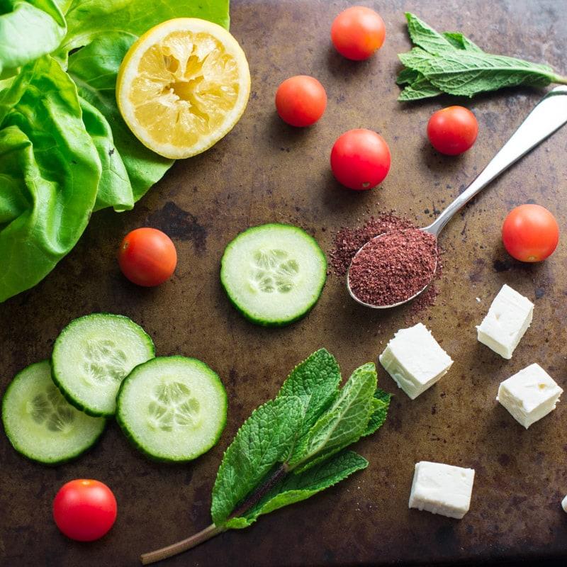 Fattoush Salad Ingredients