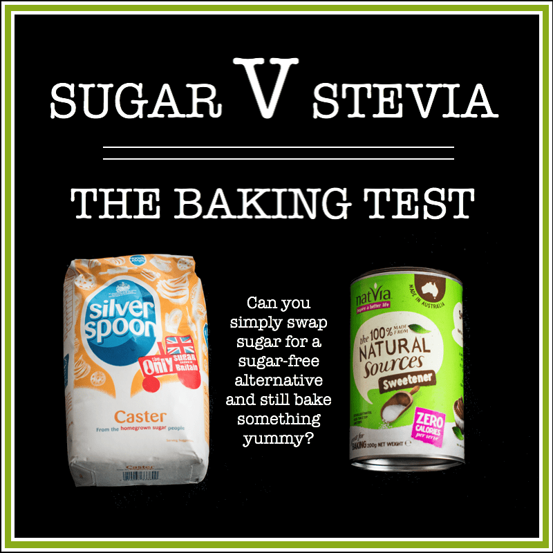 Sugar v stevia the baking test - what happens if you swap sugar for stevia, a sugar-free, calories-free alternative when baking cakes and cookies.