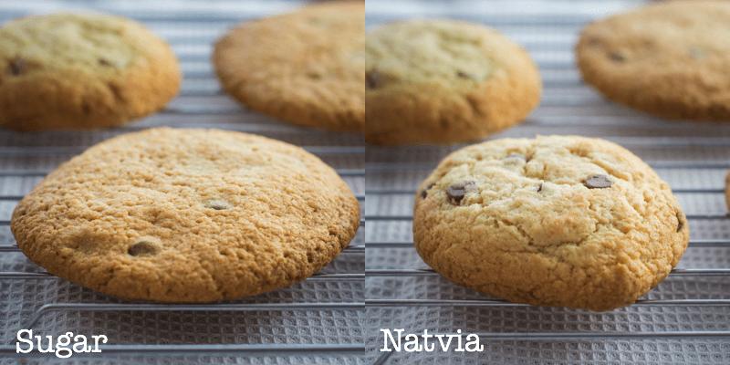 sugar v stevia cookies