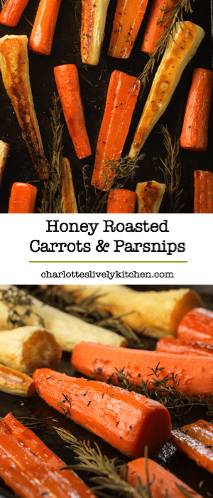Honey roasted carrots and parsnips with rosemary and thyme - easy to ...