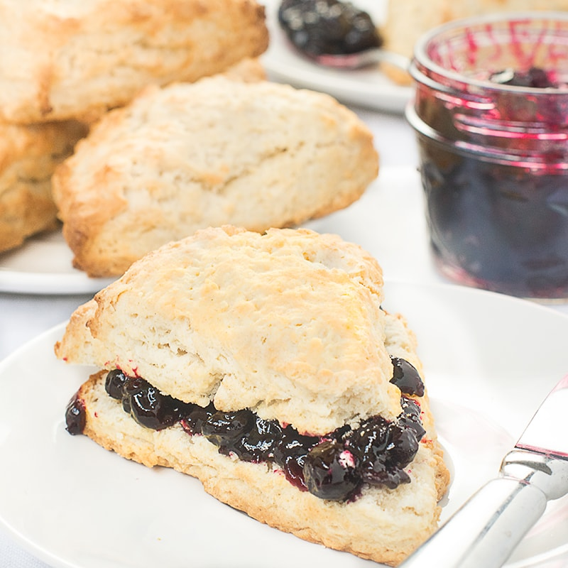 Switching to using coconut oil and coconut milk creates vegan scones that are easy to make and every bit as good as the original afternoon tea classic.