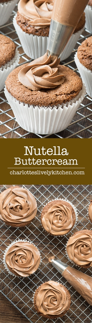 Smooth Nutella Buttercream Is So Easy To Make And The Perfect Topping For Cupcakes