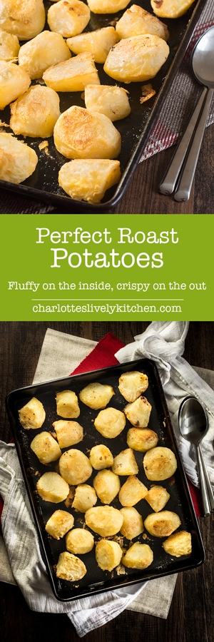 My guide to making perfect roast potatoes – soft on this inside and crispy on the outside.