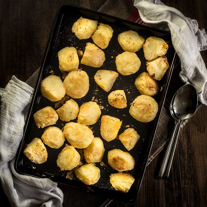 My guide to making perfect roast potatoes - soft on this inside and crispy on the outside.