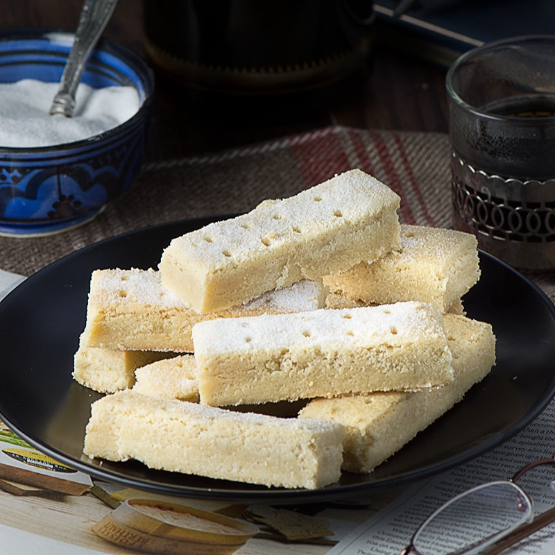 Melt-in-your-mouth shortbread. Perfect for dipping in warm melted chocolate!