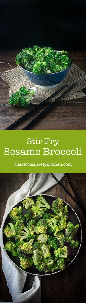 Stir Fry Sesame Broccoli, a quick, easy, delicious and nutritious asian inspired side dish.