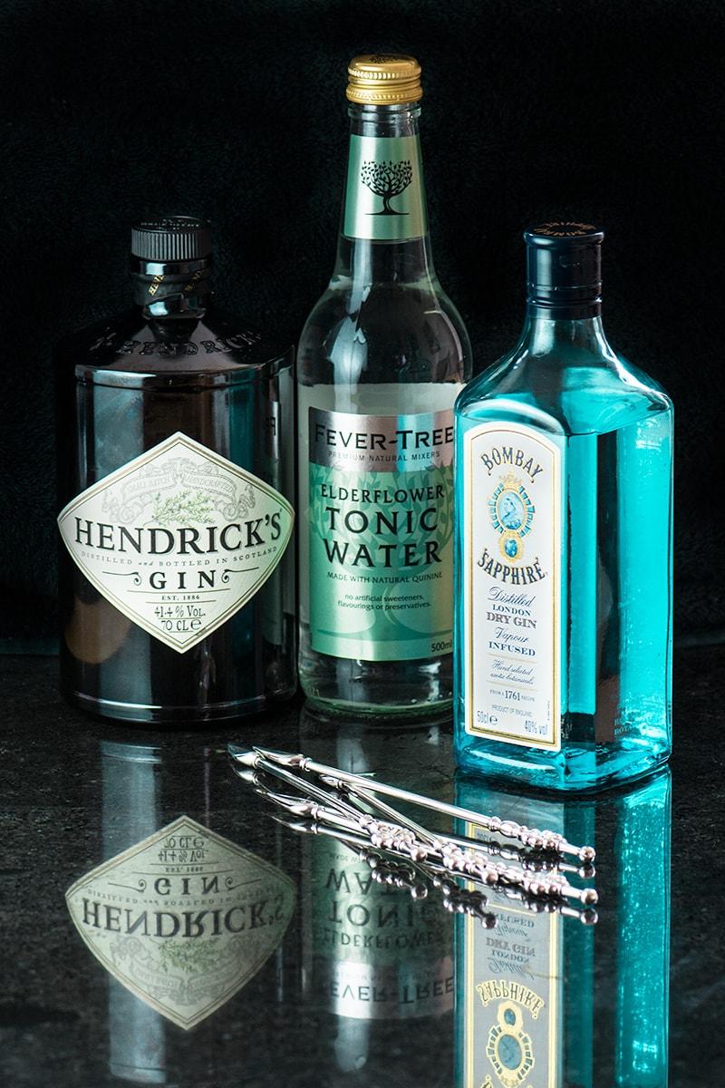 Bombay Sapphire and Hendrick's Gin