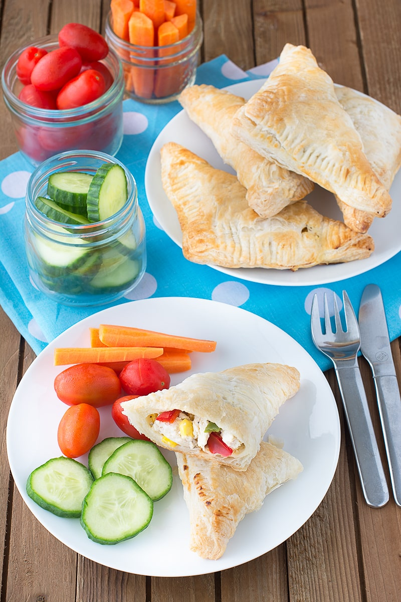 Get your childreninvolved in making their own dinner with these delicious and easy chicken and vegetable pasties.