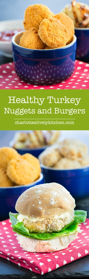 Healthy Homemade Turkey Nuggets & Turkey Burgers - Fun and easy to make and good for your little ones.