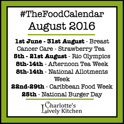 thefoodcalendar august 2016