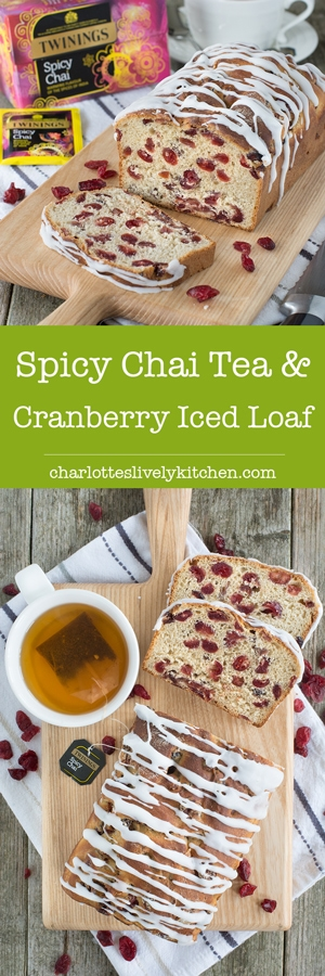 Spicy Chai Tea & Cranberry Ice Loaf - A family-sized iced bun packed fullof plenty of Twinings Spicy Chai Tea-soaked cranberries.