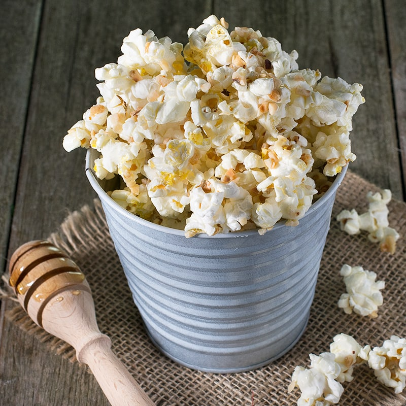 Honey and hazelnut popcorn.