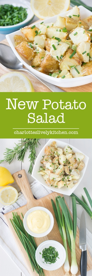 Roasting thepotatoesfor thispotato salad with garlic and herbs means it's full of flavour, especially when you add homemade mayonnaise too. It's perfect for a summer barbecue or picnic.
