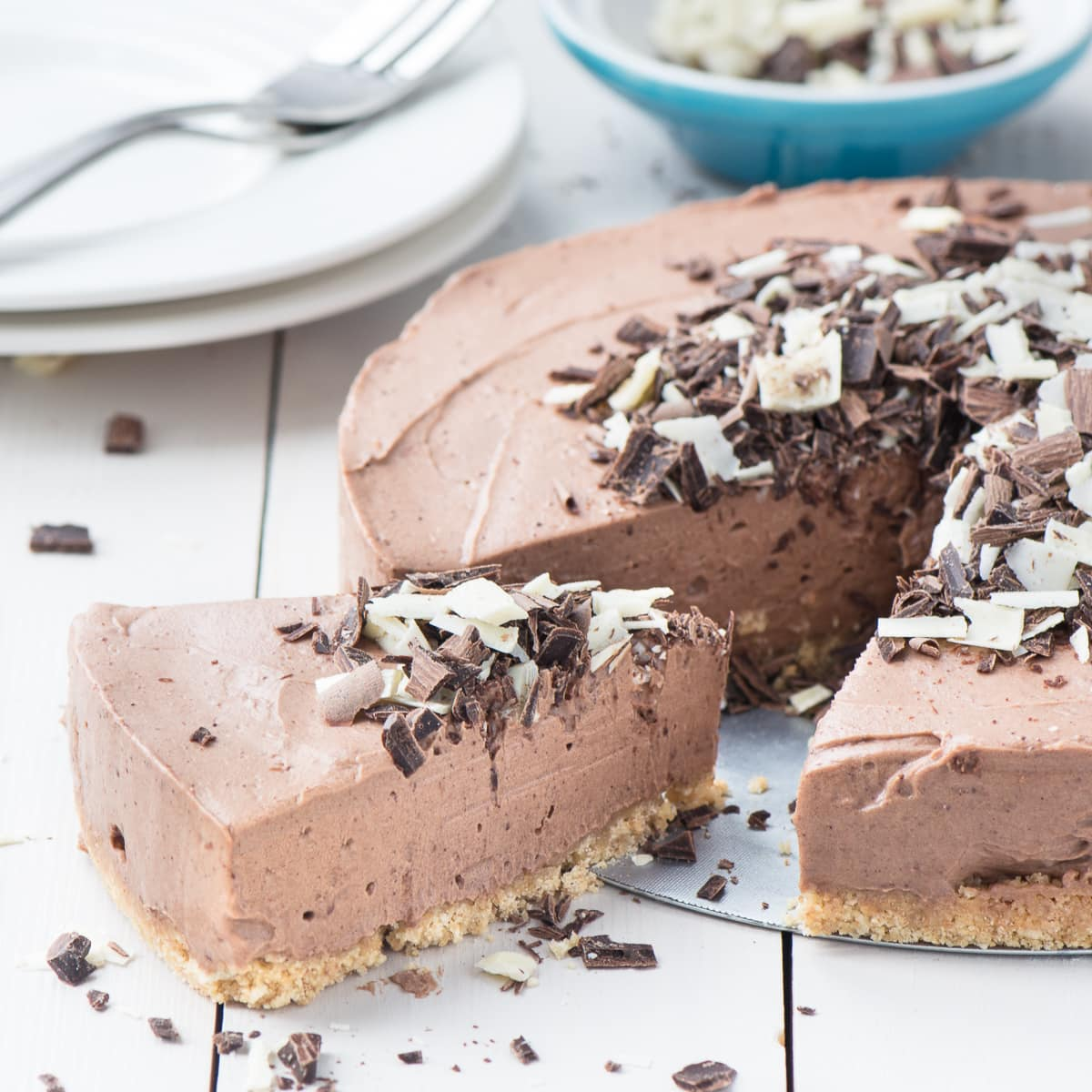 Easy No Bake Chocolate Cheesecake Charlotte S Lively Kitchen