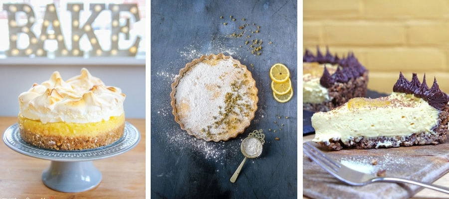 Gluten-Free Lemon Meringue Pie, Lemon & Chamomile Tart, Lemon & Ginger Tart