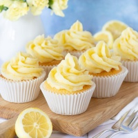 Lemon buttercream made with fresh lemon juice and zest. Perfect for decorating cakes and cupcakes or filling biscuits and macarons.