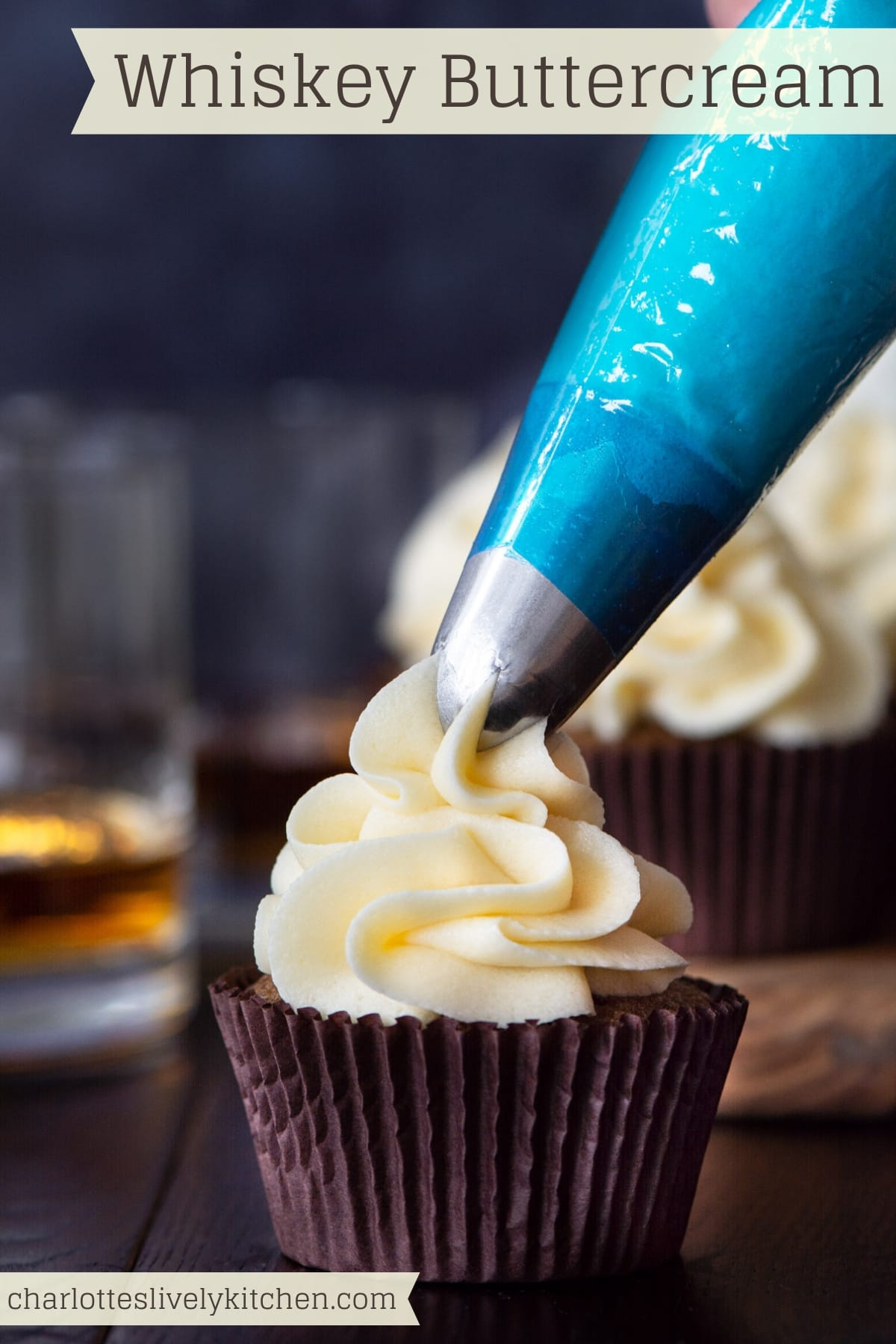 Whisky Buttercream - Smooth sweet buttercream with a delicious kick of Whiskey.