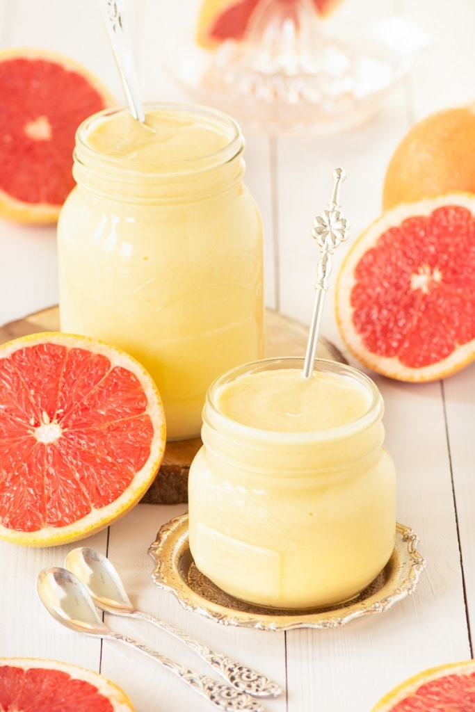 Homemade grapefruit curd