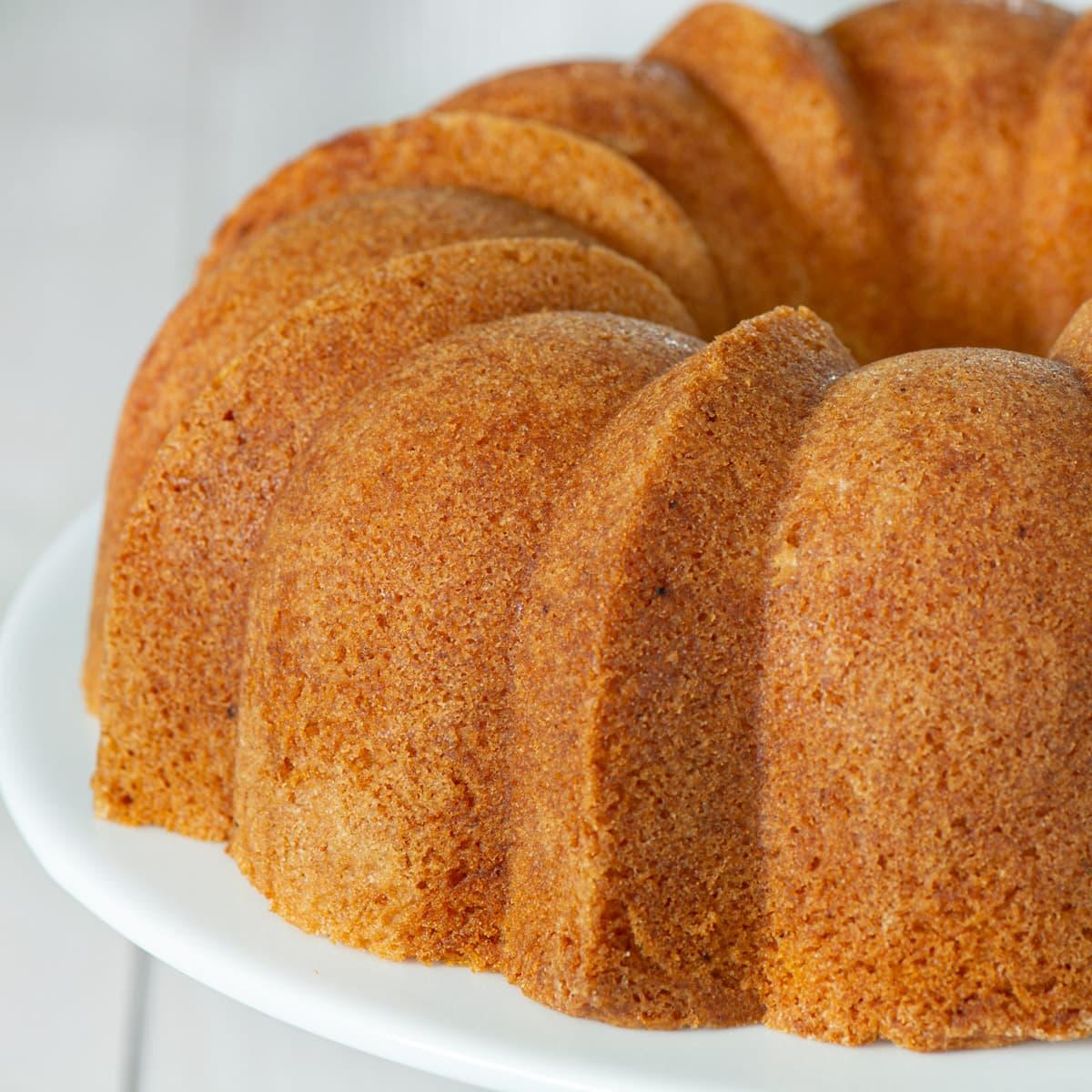 A plain bundt cake.